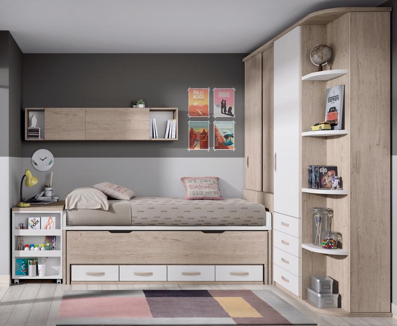 Compactos dormitorios juveniles baratos muebles for Muebles juveniles sevilla