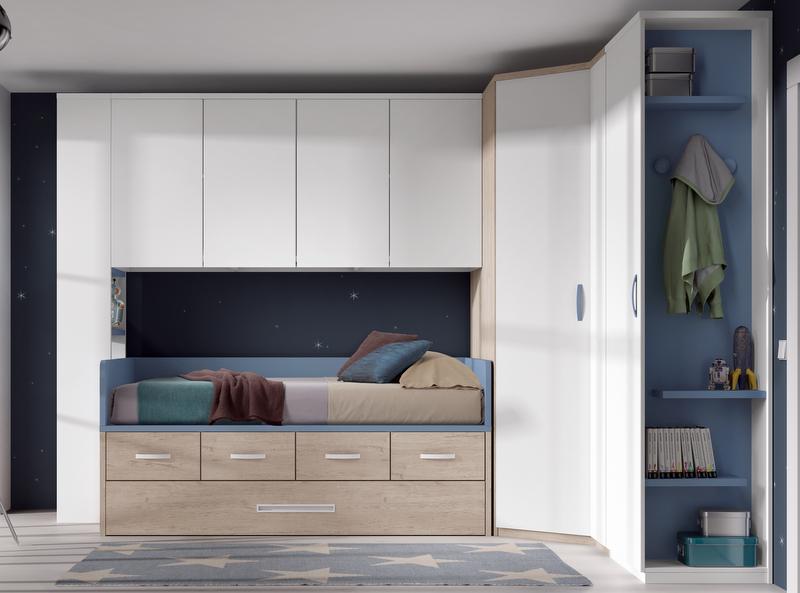 Compactos dormitorios juveniles baratos muebles for Dormitorios juveniles modernos precios