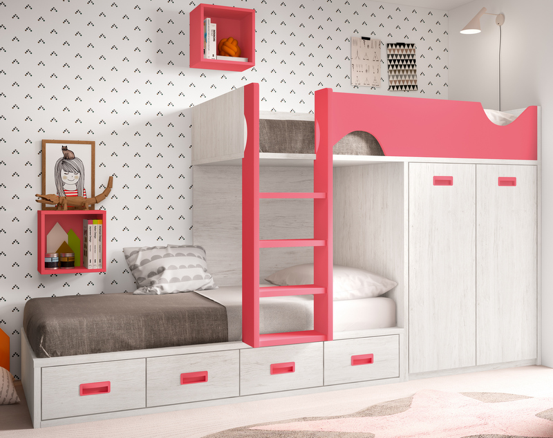 Literas trenes dormitorios juveniles baratos muebles for Muebles juveniles baratos