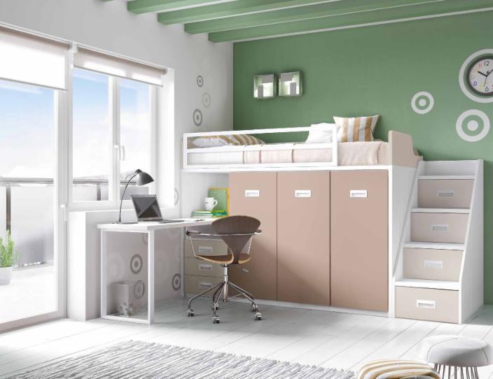 Literas trenes muebles juveniles dormitorios juveniles for Disenar habitacion juvenil online