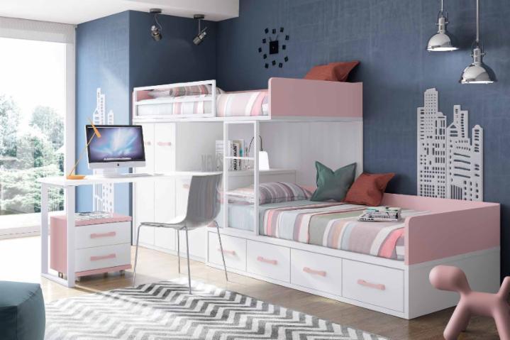 Literas trenes muebles juveniles dormitorios juveniles - Habitaciones infantiles tren ...