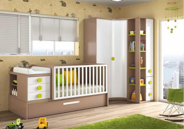 Cunas convertibles dormitorios juveniles baratos - Habitacion convertible bebe ...