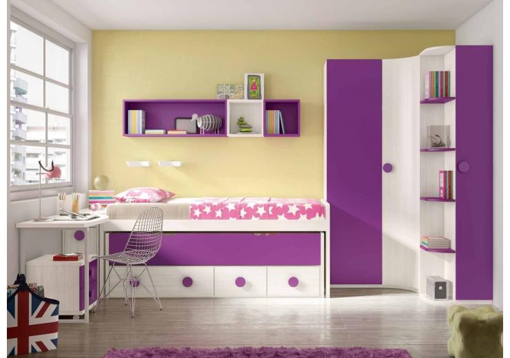 Compactos muebles juveniles dormitorios juveniles - Muebles para habitaciones pequenas juveniles ...