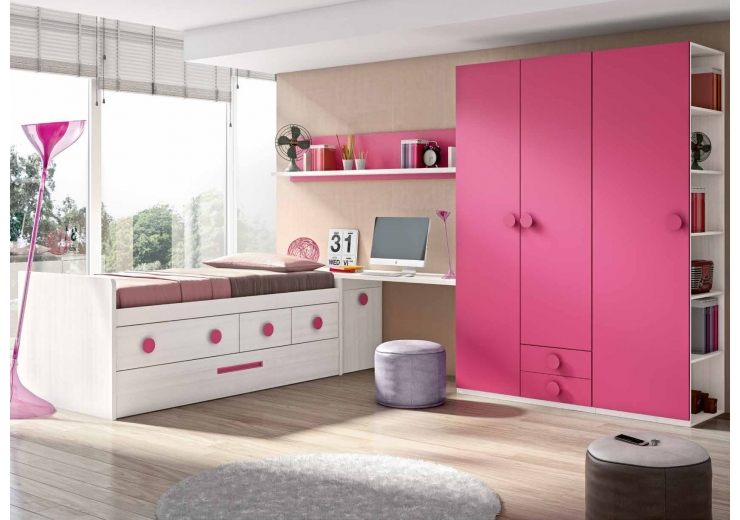 Compactos muebles juveniles dormitorios juveniles for Cama nido completa