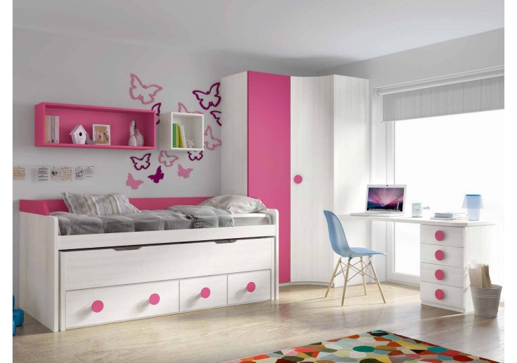Compactos muebles juveniles dormitorios juveniles for Dormitorios puente juveniles baratos