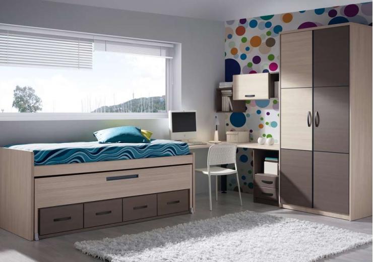 Compactos muebles juveniles dormitorios juveniles - Dormitorios juveniles formas ...