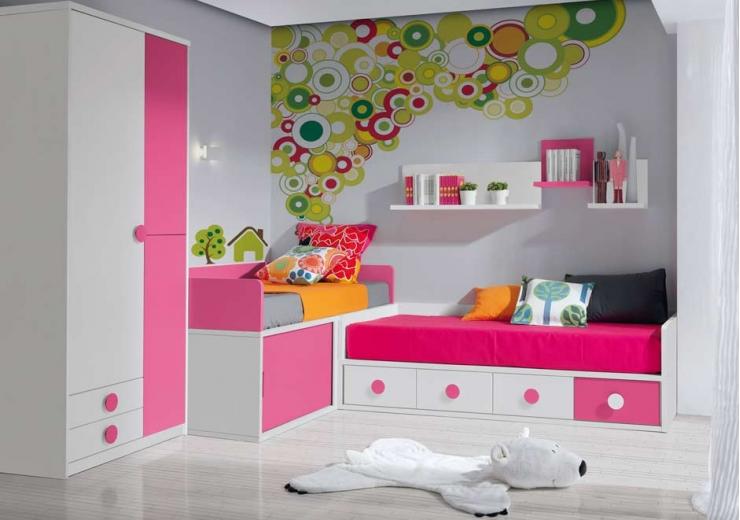 Compactos muebles juveniles dormitorios juveniles - Dormitorios infantiles dobles ...