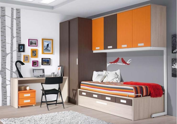 Compactos muebles juveniles dormitorios juveniles for Habitacion juvenil completa