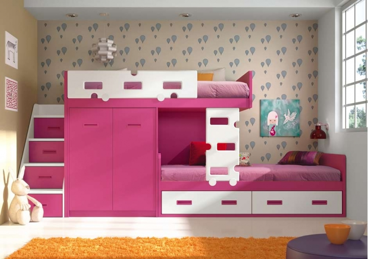 Literas trenes muebles juveniles dormitorios juveniles - Habitaciones juveniles literas ...