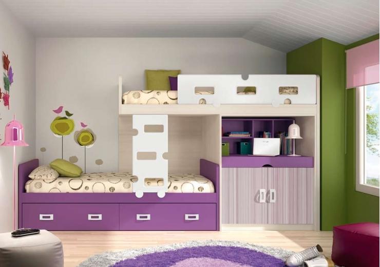 Literas trenes muebles juveniles dormitorios juveniles - Habitacion con literas para ninos ...
