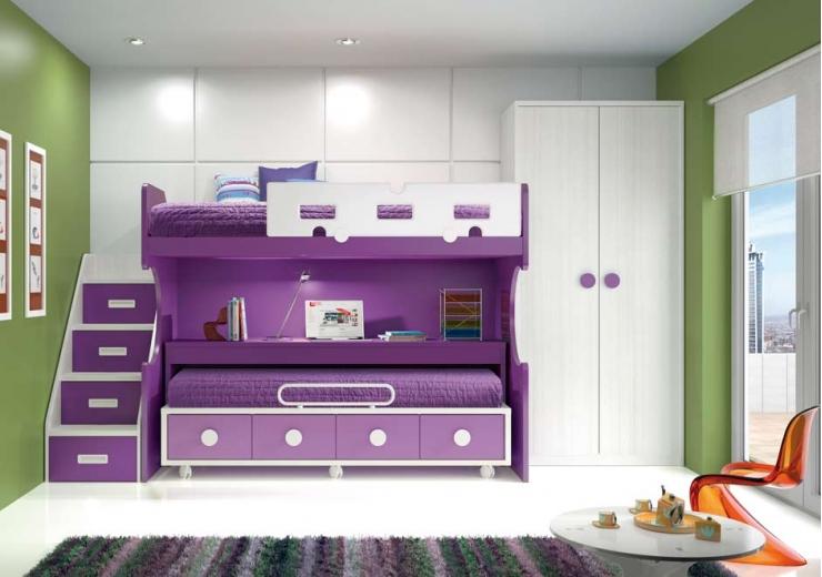 Literas trenes muebles juveniles dormitorios juveniles Dormitorio juvenil en l