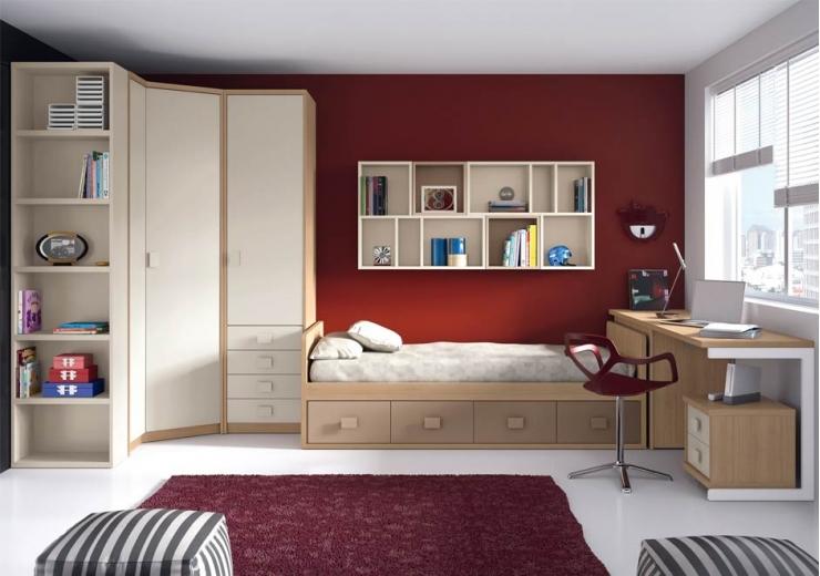Nidos muebles juveniles dormitorios juveniles for Dormitorios juveniles con armario esquinero
