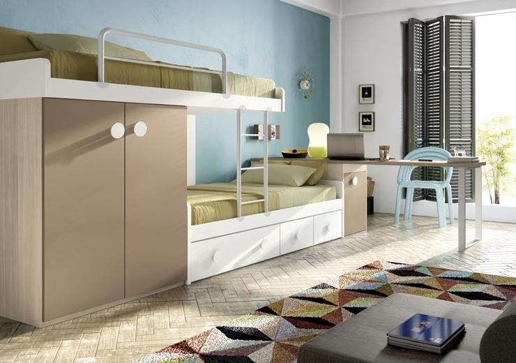 Literas trenes muebles juveniles dormitorios juveniles for Muebles briole dormitorios juveniles